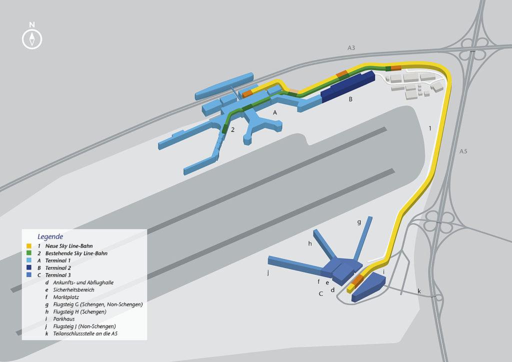 Visualisierung PTS Terminal 3 Airport Frankfurt