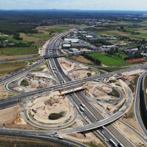 Bau Autobahnkreuz Fürth Erlangen A3