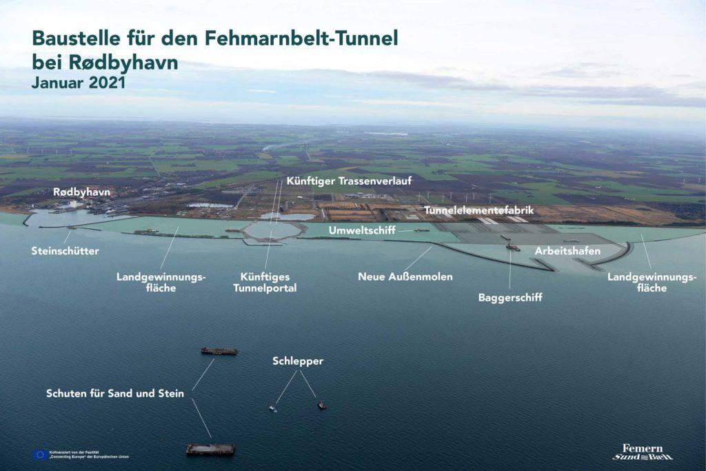 Bau längster Unterwassertunnel